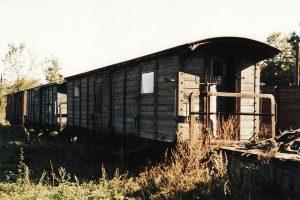 Wagony brankardy w Krośniewicach.