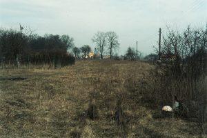 Osiek Mały, widok od strony Koła Wąskotorowego.
