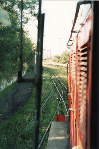 Widok z kabiny lokomotywy Lxd2-343.