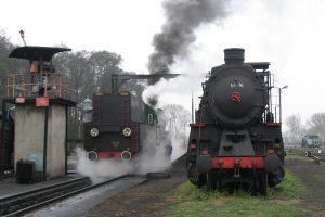 Parowozownia Wolsztyn - Ol49-69 i Ty1-76.