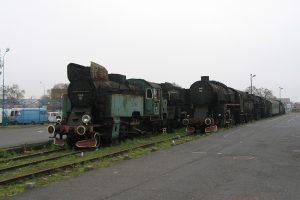 Skansen w Wolsztynie - TKt48-143 i Ty43-123.