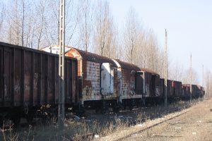 Lublin Północny - opuszczone wagony.