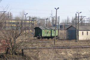 Lublin Północny - opuszczony wagon mieszkalny Xh.