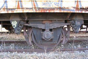 Lublin Północny - rozkręcone hamulce wagonu 202Lc Ibhs.