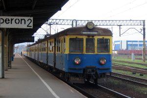 Pociąg, którym dotarłam do Wrześni.