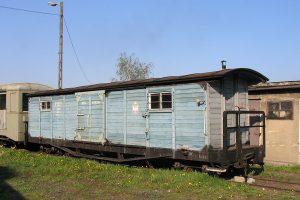 Brankard pociągu ratunkowego.