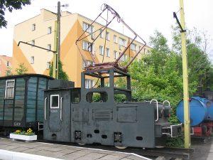 Lokomotywa elektryczna EL05-02 z  Huty im. Ludwika Waryńskiego w Piekarach Śląskich.