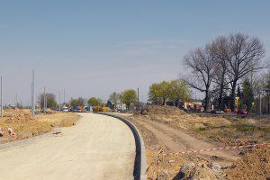 Budowa nowego układu drogowego pod Ikeą.