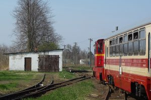 Rogów Wąskotorowy Towarowy - pociąg do Białej Rawskiej.