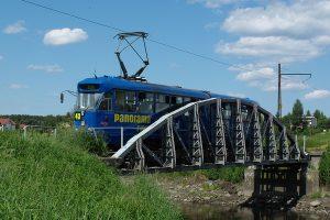 803N #9 na moście w Lutomiersku.