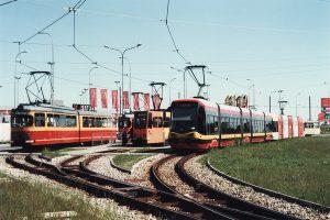 Wagony na krańcówce Chocianowice-ikea.