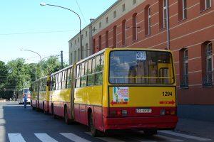 Tramwajowa - Ikarus 280.70E #1553 i Ikarus 280.37A #1294.