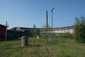 Duża hala parowozowni Gniezno.