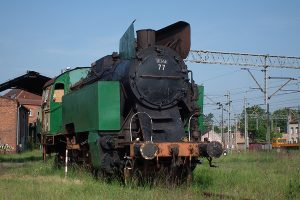Parowóz TKt48-77.