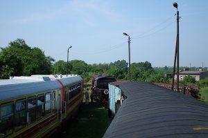 Widok na zgromadzony tabor.