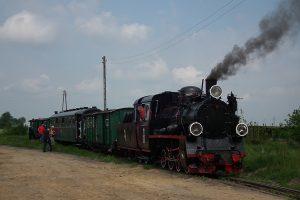 Historyczny pociąg prowadzony Px48-1919 w Niechanowie.