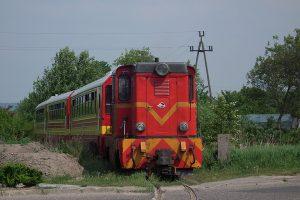Lxd2-343 na odcinku toru prowadzącym do Anastazewa.
