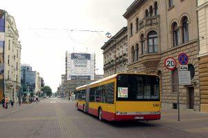 Fotostop na ulicy Piotrkowskiej.