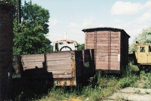 Wagony towarowe z Witaszyckiej Kolei Dojazdowej.